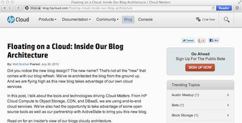 HP Cloud Blog